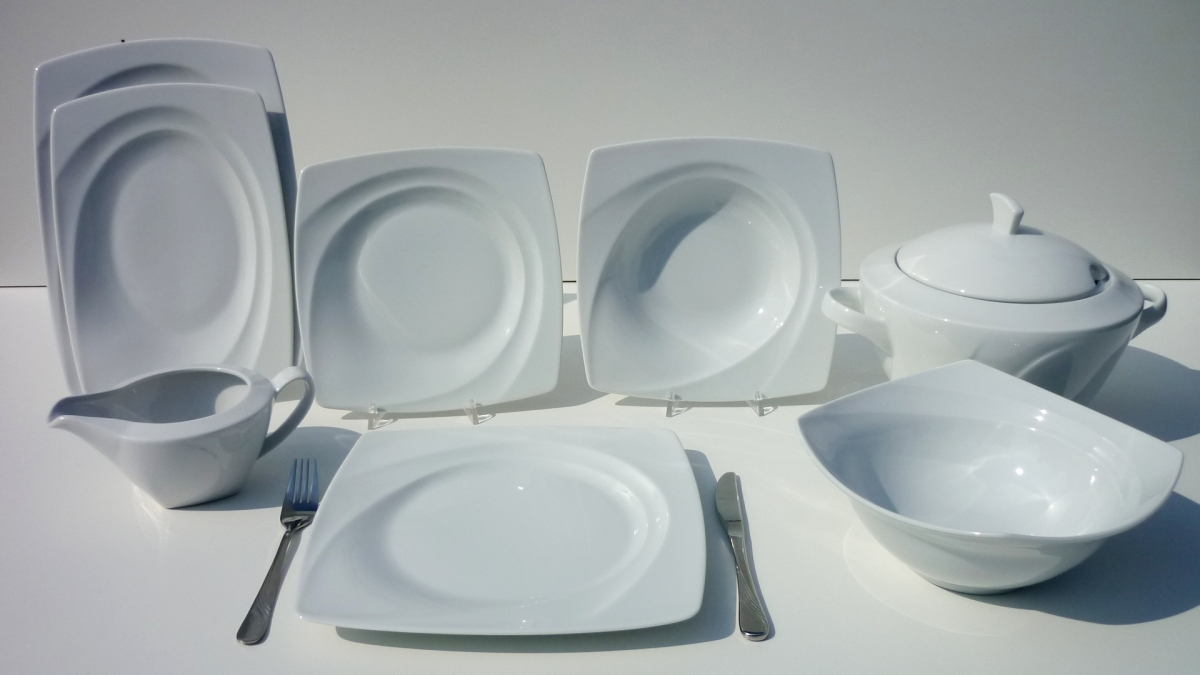 Lubiana Serwis Obiadowy Biały Celebration Dla 12 Osób 43 El Porcelana