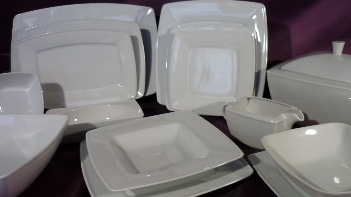 Lubiana Zestaw Obiadowy Victoria Dla 12 Osób 43 Elementowy Porcelana