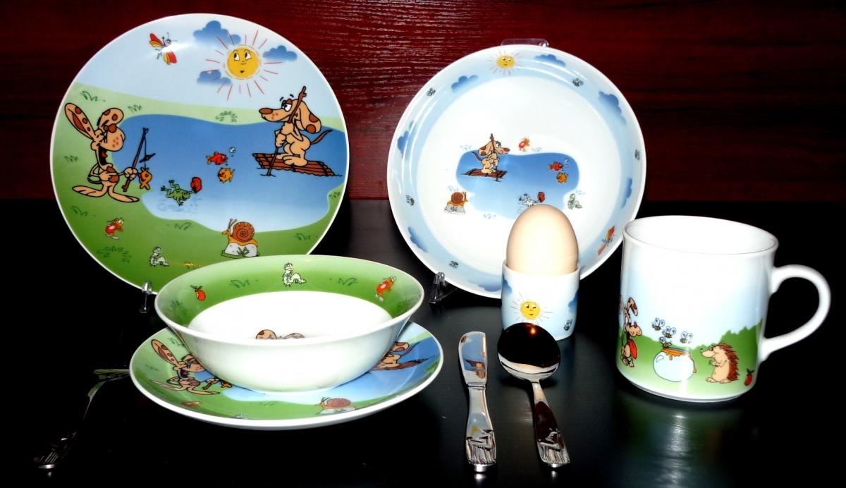 Lubiana Zestaw Dziecięcy Piesek Bali 16 Dek 1422 Porcelana